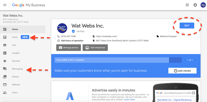 google my business features 2017