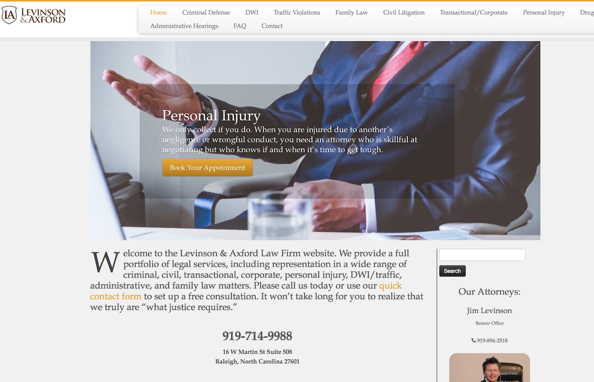 levinson axford law firm raleigh, nc