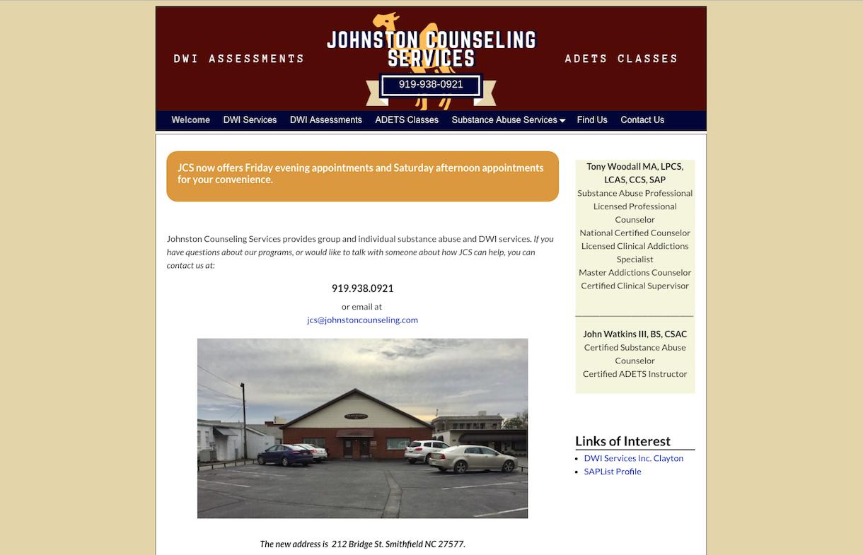johnston counseling services smithfield, nc