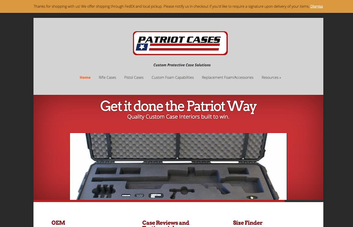 patriot cases smithfield, nc website
